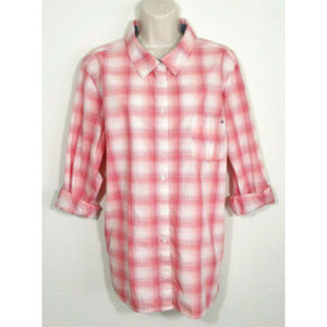 TOMMY HILFIGER Plaid Check Button Shirt Top 2934E1